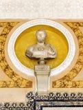 Theb emperor Lucius Verus, Palace of Casa de Pilatos, Seville, Spain. Marble portrait of the Roman emperor Lucius Verus in the courtyard of the Casa de Pilatos Royalty Free Stock Images