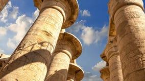 thebes de temple de série de karnak de l'Egypte banque de vidéos