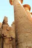 thebes de temple de série de karnak de l'Egypte Photos stock