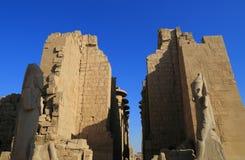 thebes de temple de série de karnak de l'Egypte Images stock