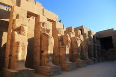 thebes de temple de série de karnak de l'Egypte Images libres de droits