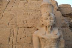 thebes de temple de série de karnak de l'Egypte Photos libres de droits