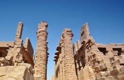 thebes de temple de série de karnak de l'Egypte ruines Louxor Égypte Images libres de droits