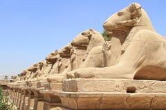 thebes för tempel för egypt karnakserie fotografering för bildbyråer