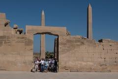 thebes för tempel för egypt karnakserie Arkivfoto