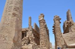 thebes för tempel för egypt karnakserie Arkivbilder