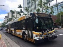 TheBus ist die Regierungslauföffentlichen Transportmittel in Honolulu stockfotos