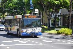 TheBus in Waikiki Stockbild