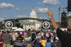 TheCall Christian Rally in Washington DC. An estimated 50,000 Christians gather on The Mall in Washington DC for singing, prayer, and speeches, including Royalty Free Stock Photo