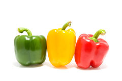 Thee colored paprika Royalty Free Stock Image
