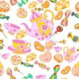 Thee-drinkend patroon royalty-vrije illustratie