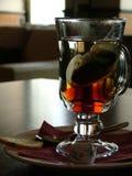 Thee in een glas royalty-vrije stock afbeelding