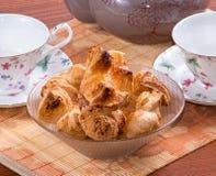 Thee en broodjes royalty-vrije stock afbeelding