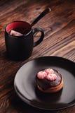Thee en cake Stock Afbeeldingen