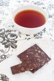 Thee en chocolade Stock Afbeelding