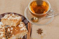 Thee en koekje stock afbeeldingen