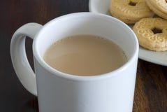 Thee en koekjes Stock Foto