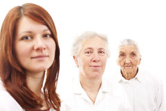 Thee generations Stock Photography