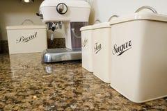 Thee, koffie en suiker Stock Afbeeldingen