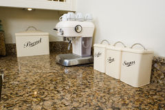 Thee, koffie en suiker Royalty-vrije Stock Foto