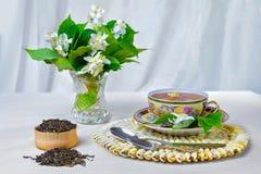 Thee, Kop thee, diverse soorten thee, Thee met jasmijn Royalty-vrije Stock Afbeelding