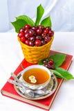 Thee, Kop thee, diverse soorten thee, thee op de lijst Stock Afbeelding