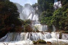 Thee Lor Su vattenfall Arkivbild