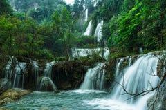 Thee Lor Su vattenfall Arkivfoto