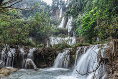 Thee Lor Su vattenfall Fotografering för Bildbyråer