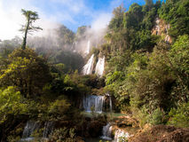 Thee Lor Sue waterfall. North of Thailand Stock Photos