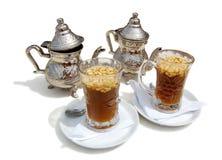 Thee met cedernutlets op-Tunesië Royalty-vrije Stock Afbeeldingen