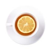 Thee met citroen stock afbeeldingen