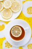 Thee met citroen. Royalty-vrije Stock Afbeeldingen