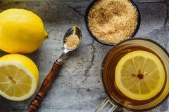 Thee met citroen royalty-vrije stock afbeelding