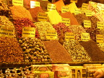 Thee open markt calorful Istanboel Royalty-vrije Stock Foto's