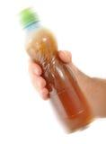 Thee in plastic fles Stock Foto's