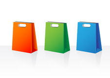 Thee shopping bags Stock Photography