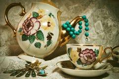 thee-tijd Royalty-vrije Stock Afbeeldingen