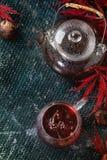 Thee van de de herfst de rode hibiscus Royalty-vrije Stock Afbeelding