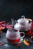 Thee van de de herfst de rode hibiscus Stock Afbeelding