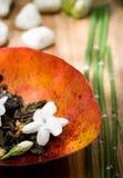 Thee van de jasmijn - de sier Stock Afbeeldingen
