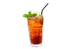 Theecocktail met citroen en ijs Stock Afbeeldingen