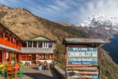 Theehuis bij Trek van Annapurna Basecamp Stock Fotografie