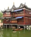 Theehuis in de tuin van Yu Yuan Stock Afbeeldingen