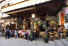 Theehuis en tabakswinkel in Aleppo royalty-vrije stock afbeeldingen