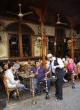 Theehuis en tabakswinkel in Damascus stock fotografie