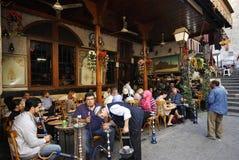 Theehuis en tabakswinkel in Damascus Royalty-vrije Stock Foto