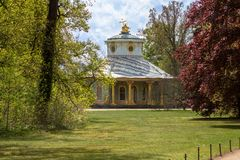 Theehuis in zonder Souci-park, Potsdam Stock Foto