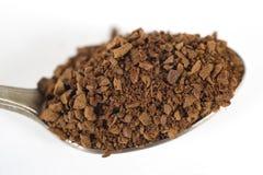 Theelepeltje van onmiddellijke koffie Stock Foto's