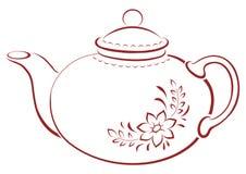 Theepot, pictogram Royalty-vrije Stock Afbeeldingen